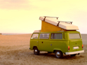VW Campingbus an der Ostsee